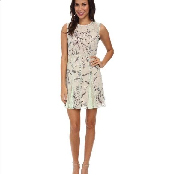 BCBGMaxAzria Dresses & Skirts - Bcbg maxazria floral print green dress size 4
